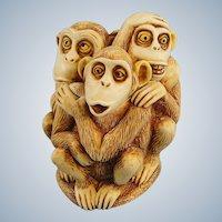 Harmony Kingdom Inside Joke Monkeys Box Figurine