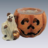 Boyds Halloween Votive Holder Ghoulia Boobear Bearstone