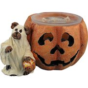 Boyds Halloween Votive Holder Ghoulia Boobear Bearstone