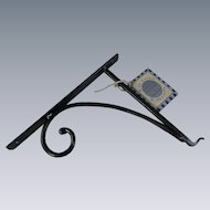 Rowe Pottery Wrought Iron Bracket for Plants Lanterns Vintage