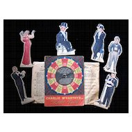 Vintage 1938 Charlie McCarthy Radio Party Game W Original Envelope Complete