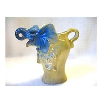 Old Figural Creamer Pitcher Germany Elephant Lady In Dress German