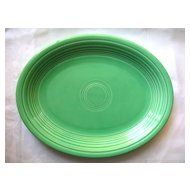 "Laughlin Fiesta Green Platter 12"" Vintage Older"
