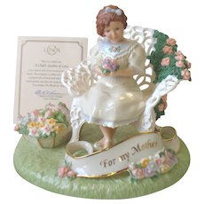 Lenox For My Mother Child's Garden of Love Musical Figurine Large New In Box & COA
