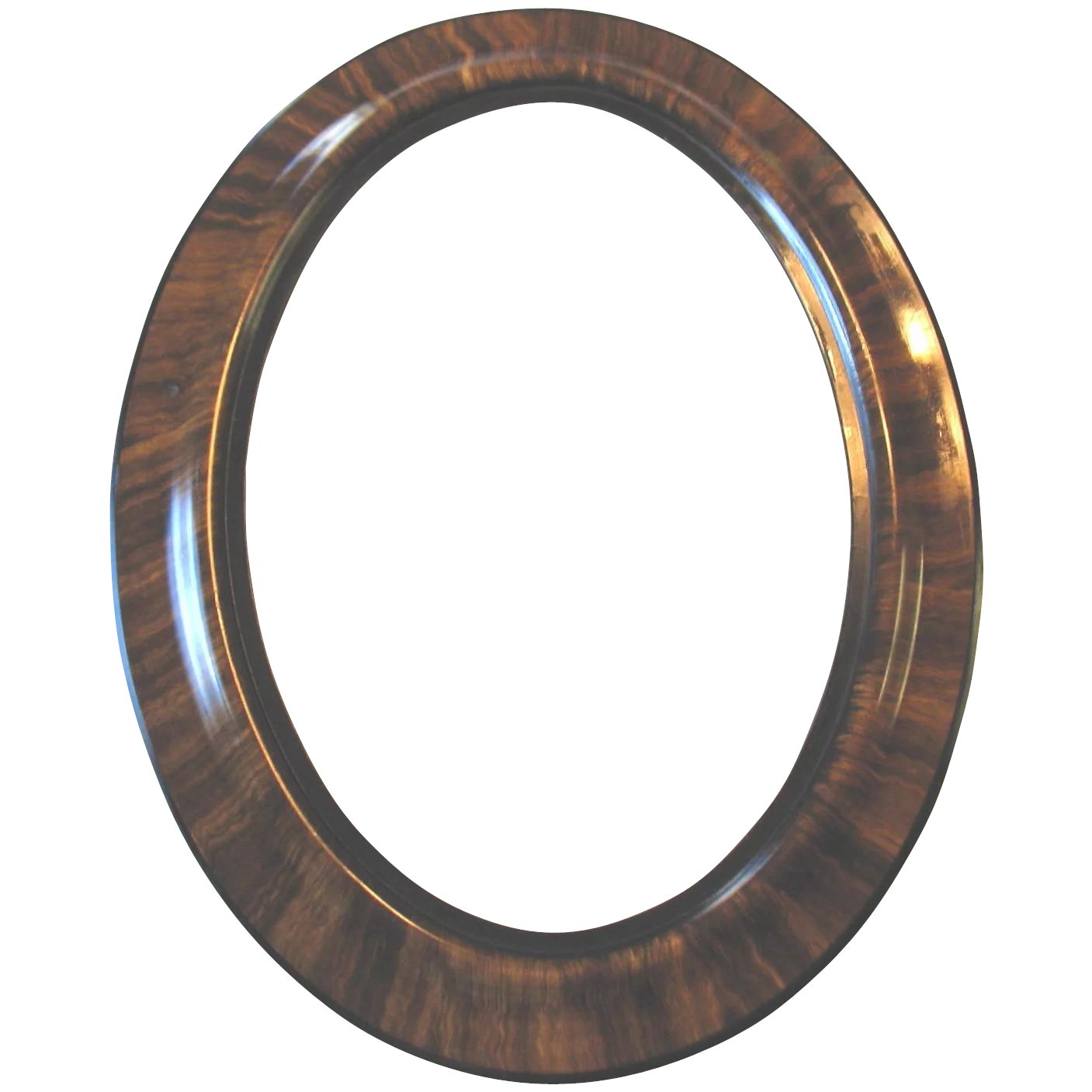 Large antique oval wood frame tiger stripe convex bubble glass 25 click to expand jeuxipadfo Gallery