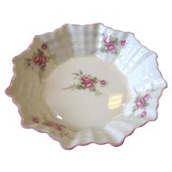"Vintage Shelley Dainty Bridal Rose Sweet Meat Dish Nut Bowl 4 3/4"" Round"