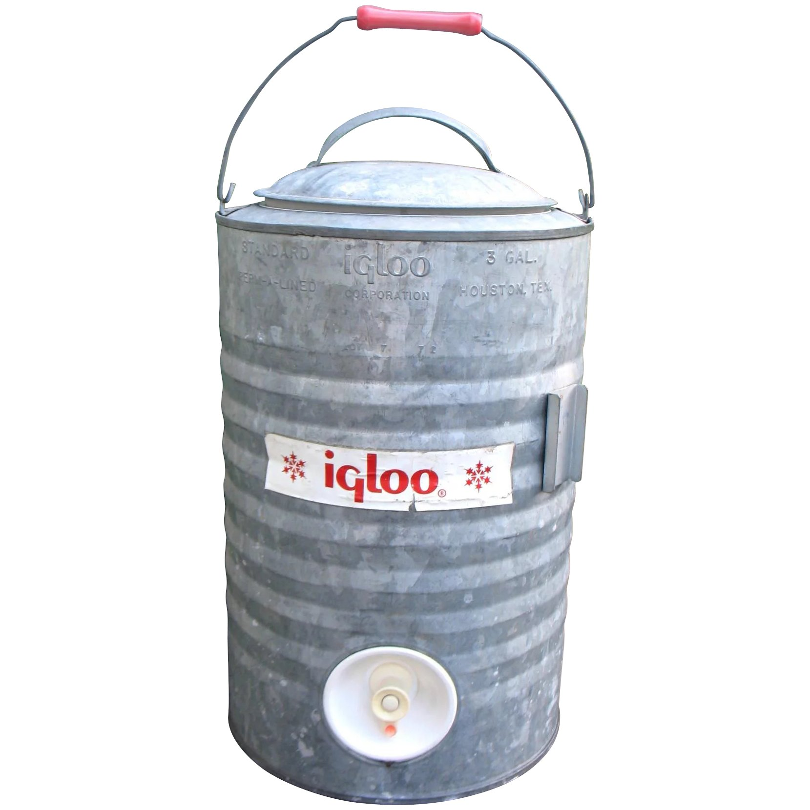 Excellent Vintage IGLOO Galvanized Metal Cooler 3 Gallon Spigot Container  DA98