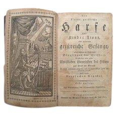 Die Kleine Geistliche Harfe 1803 Mennonite German Hymnal Germantown Pa Billmeyer FE Book