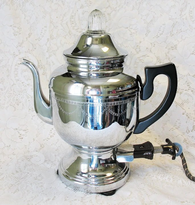 Vintage Farberware Electric Coffee Percolator Pot full 2 720 84 vintage farberware electric coffee percolator pot art deco chrome