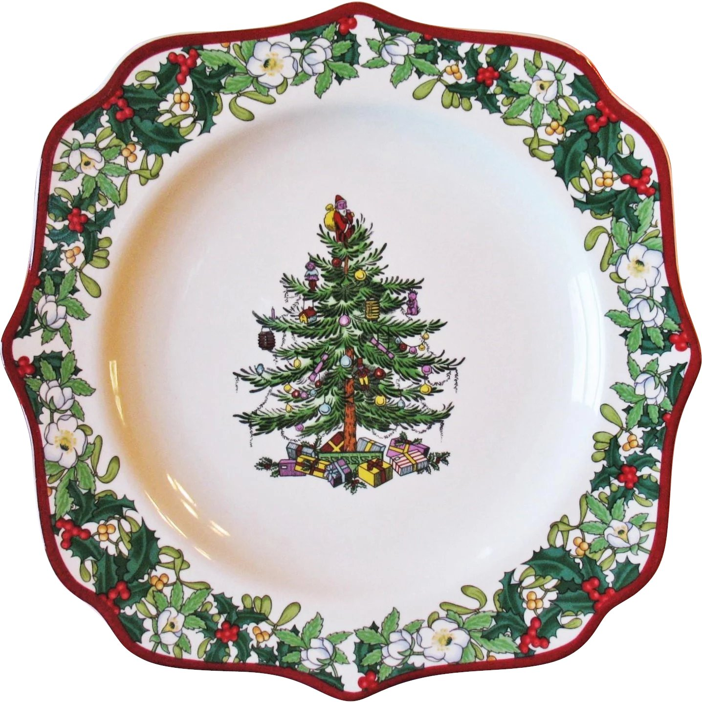 Spode Christmas Tree Plate Square Fancy 9\