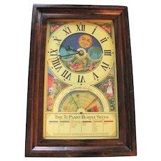 Vintage 1975 Burpee Seeds Clock Electric Mantle