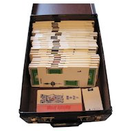 Vintage Duplicate Bridge Boards & Carrying Case Set With Cards 1-24