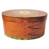 Antique Small Shaker Finger Box Pantry Painted