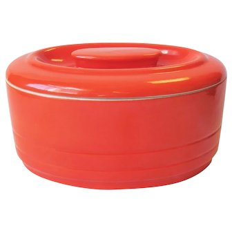 Hall Westinghouse Leftover Refrigerator Dish Hercules Orange Red