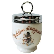 Royal Worcester Egg Coddler Redskins Peter Pan