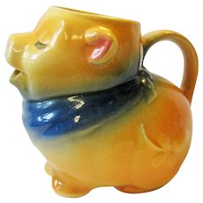 Vintage 1940's Shawnee Smiley Pig Creamer Pitcher