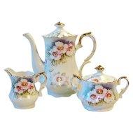 Vintage Lefton MAGNOLIA Tea Set or Coffee Set Pot Sugar Creamer