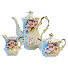 Vintage Lefton MAGNOLIA Tea Set or Coffee Set Pot Sugar Creamer