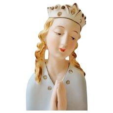 Vintage Praying Madonna Figurine Jeweled Japan Thames