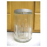 Vintage Old Sellers Hoosier TEA Jar Canister Ribbed Triple Skip