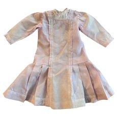 Antique Dropped Waist Dress for Bisque Dolls