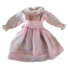 Pink Batiste Dress Large German or French Bisque