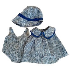 Three Piece Blue and White Patsy Outfit 1930s