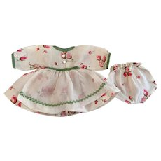 Dress and underwear for Small Bisque Dolls