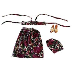 Four Piece Beach Outfit and Heels for Fashion Doll 1950s