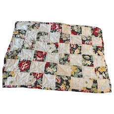 Vintage Doll Quilt for Dolls and Beds 1940s