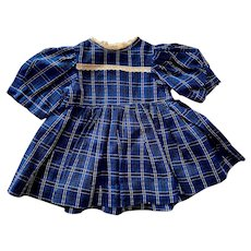 Blue Plaid Dress for Chubby Walkers and Mama Dolls