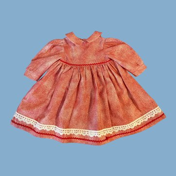 Dress for Large Cloth, Bisque or Primitive Dolls