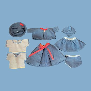 """Two Vintage """"boy-girl"""" outfits 1940s"""