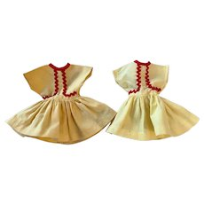 Two Ideal Shirley Temple Dresses 1950s