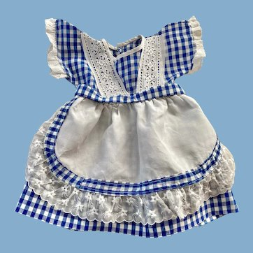 Navy and White Gingham Dress for Large Toddlers