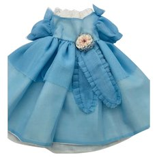 Blue Dress for Bisque and Composition Dolls