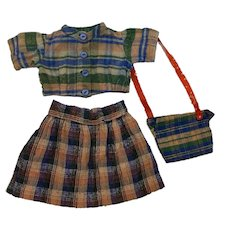 Antique Three Piece Outfit for Bisque Dolls