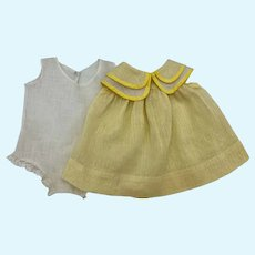Dimity Dress and Onesie for Composition Dolls 1930's
