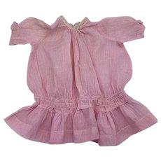 Antique Pink Dropped Waist Dress 1900