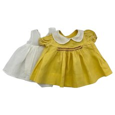 Yellow Smocked Dress for Effanbee Patsy Ann and Friends 1930s