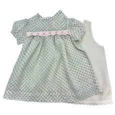 Dimity Petite Print Dress for Baby Dolls1950s