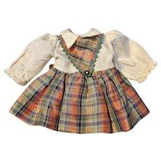 "Ideal Toni P90 14"" Schoolgirl Dress"