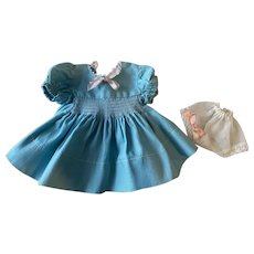 Aqua Blue Dress and Underwear for Composition and Hard Plastic Dolls