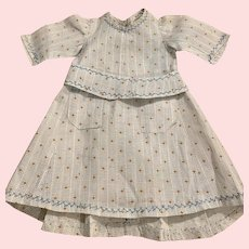 Pretty Floral Dress for Bisque Dolls