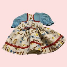 Cute Print Dress for Saucy Walker and Friends 1950s