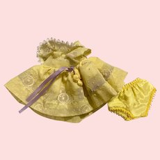 Yellow Flocked Party Dress for Eight Inch Dolls such as Ginny and Friends