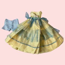 Taffeta Ballgown for Hard Plastic Dolls 1950s
