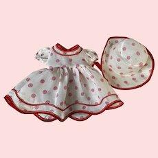 Pattikins Shirley Temple Coin Dot Dress and Bonnet