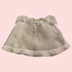 Lovely Batiste Dress with Embroidery for Bisque Babies 1920s