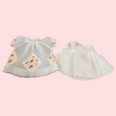 Organdy Doll Dress and Slip for Toddler Dolls 1930s